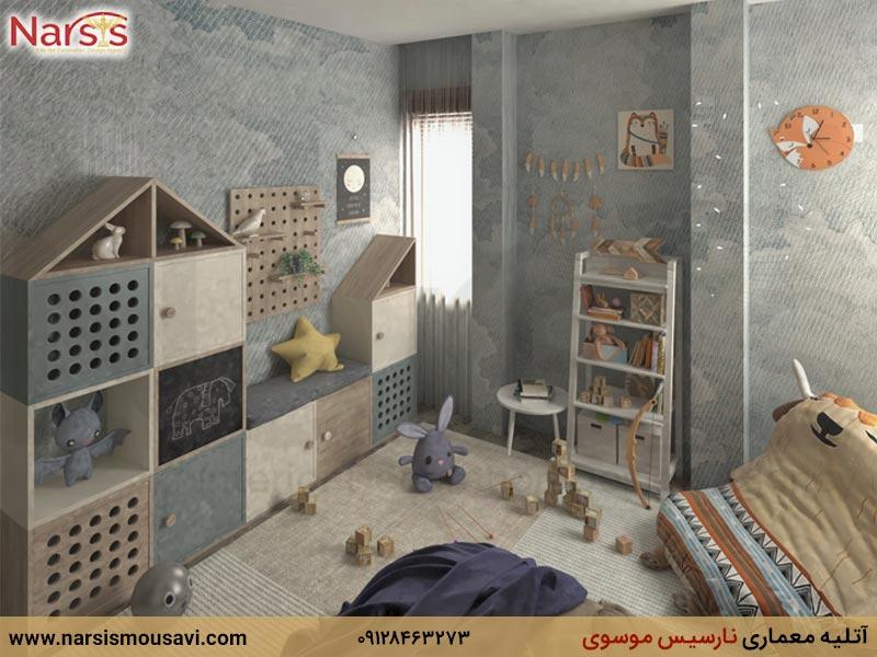 طراحی داخلی اتاق خواب نوزاد، کودک و نوجوان